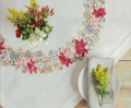 Emb Autumn Flowers Cloth Kit 90cm x 90cm