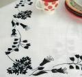 Emb Black Floral Cloth Kit 90cm x 90cm