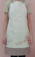 Emb Cherry Blossoms Apron Kit 70cm x 85cm