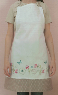 Emb Fantasy Flowers Apron Kit 70cm x 85cm