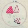Embroidered Beetle Picture Kit with emb hoop 16.5cm