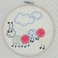 Embroidered Caterpillar Picture Kit with emb hoop 16.5cm