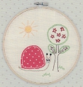 Embroidered Snail Picture Kit with emb hoop 16.5cm