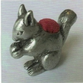 Pewter Squirrel Pincushion