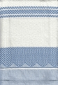 100% Cotton Tea Towel - Light Blue Check