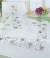 Emb Flower Border cloth 80x80