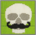 Anchor 1st Long Stitch Kit - Skull with Moustache