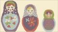 Babushka Dolls Cross stitch chart