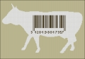 Bar Code Cow Cross stitch chart