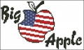 Big Apple Cross stitch chart
