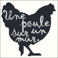 Black Chicken Cross stitch chart