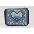 Blue and White Heart Coin Purse Kit