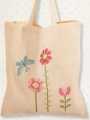 Butterflies & Flowers Calico Bag Cross Stitch Kit