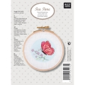 Butterfly cross stitch kit with hoop