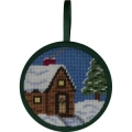 Cabin in the Snow Ornament kit