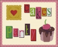 Cakes Party Cross stitch chart