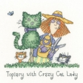Cats Rule - Topiary with Crazy Cat Lady Chart