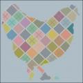 Checkered  Chicken Cross stitch chart
