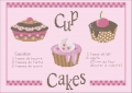 Cup Cakes Cross stitch chart