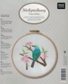 Emb Bird (Blue) Picture Kit with emb hoop 15.5cm