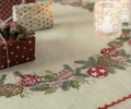 Emb Christmas Wreath Cloth Kit 90cm x 90cm