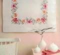 Emb Lilies Cloth Kit 80cm x 80cm