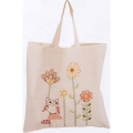 Embroidered Owl & Flower Calico Bag Kit