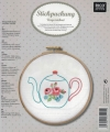 Emb Teapot Picture Kit with emb hoop 15.5cm