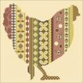 Garden Column Chicken Cross stitch chart