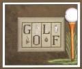 Golf Chart & Charms