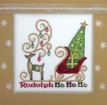 Rudolph Ho Ho Ho Chart & Charm