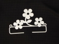 White Flower Hanger 10cms