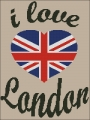 I Love London Cross stitch chart