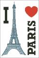 I Love Paris Cross stitch chart