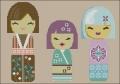 Kimono Dolls Cross stitch chart