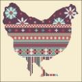 Mauve Chicken Cross stitch chart