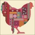 Patch Work Chicken Cross stitch chart
