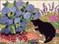 Cat by Hydrangea  Kit