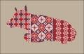 Red Floral Cow Cross stitch chart