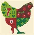 Red & Green Chicken Cross stitch chart