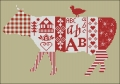 Red & White Cow Cross stitch chart