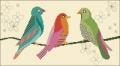 Three Birds Cross stitch chart
