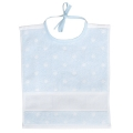 Towelling Bib Blue with White Spots