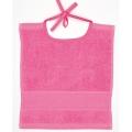 Towelling Bib Bright Pink