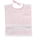 Towelling Bib Rose with White Spots