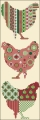 Triple Chicken Cross stitch chart