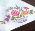 Basket Floral Dresser Scarf