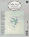 **NEW Xst Bird Linen Picture Kit (Rect Heart Frame incl)