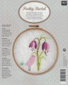 **NEW Xst Bird with Flower Linen Picture Kit (emb hoop incl)