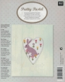 **NEW Xst Hare Linen Picture Kit (Rect Heart Frame incl)